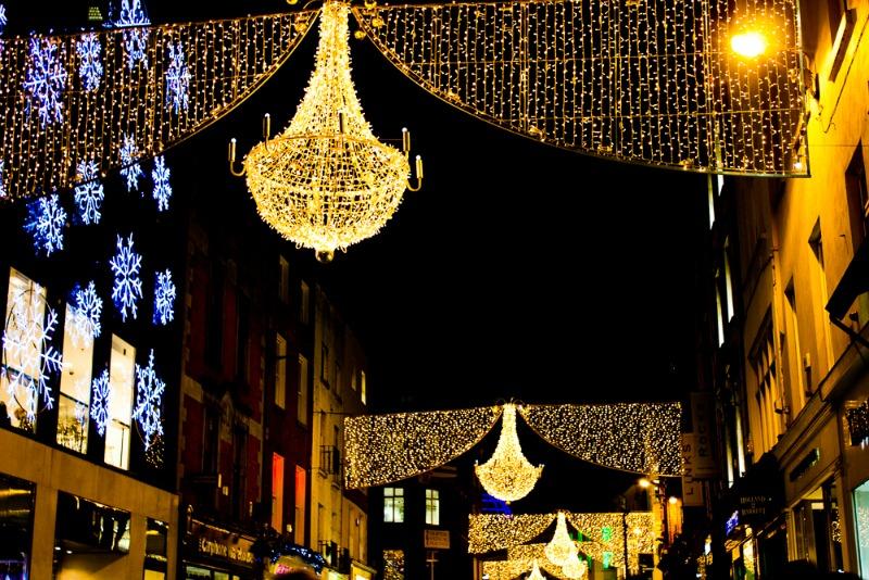 Grafton Street, Dublin in December